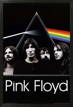 A fantastic Pink Floyd poster! The band beneath the Dark Side of the Moon prism like a Mount Rushmore of rock music! Check out the rest of our excellent selection of Pink Floyd posters! Need Poster Mounts. Rock Posters, Band Posters, Concert Posters, Music Posters, Pop Rock, Rock N Roll, Imagenes Pink Floyd, Arte Pink Floyd, Pink Floyd Poster