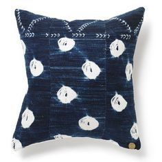 St. Frank's modern and vintage indigo dyed pillows, handmade in Mali, West Africa.