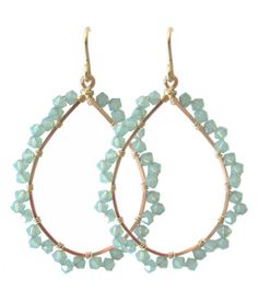Viv & Ingrid Scalloped Hoop   Gold/Pacific Opal Swarovski