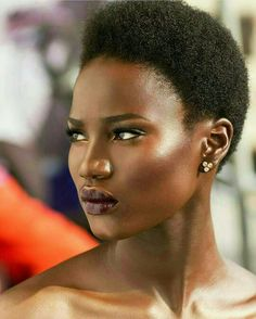Strong features. Beautiful skin. Black women are so fierce.