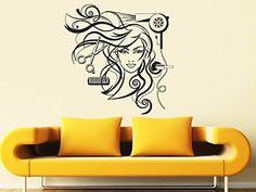 Wall Decal Vinyl Sticker Decals Art Decor Design Bedroom Dorm Office Nursery Hairdresser Salon Nail Barber Shop Hair Stylist Style Girls Fashion Hairdryer Hair Scissors Hairbrush Women Face (R1445) CreativeWallDecals http://www.amazon.com/dp/B00TTLUL2I/ref=cm_sw_r_pi_dp_jCP3vb06VEJBA