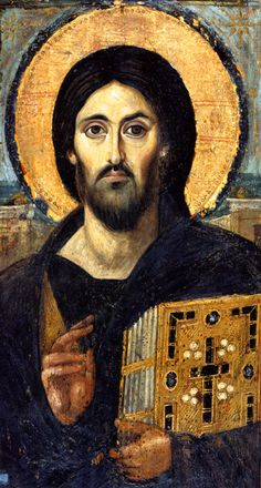 Oldest known icon of Christ Pantocrator. From St. Catherine's monastery, Mt. Sinai.