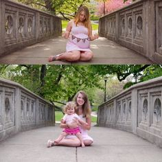 Beautiful before and after maternity pictures! #maternitypics #pregnancy #babypictures #familyphotos