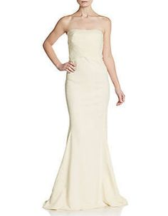 strapless ivory sheath floor length dress - Google Search