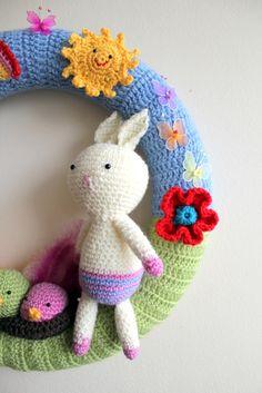 #Crochet #easter / #spring #wreath
