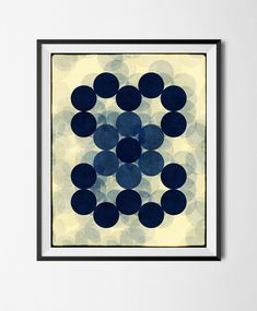 Download Printable Art, Abstract Geometric Poster,Grunge, Minimalism, Stains,  Digital Manipulated, Texture, Circles, Halftone File, by STRNART on Etsy
