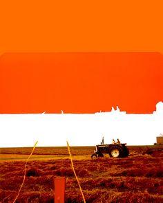 "Beautiful Tractor Imprint -  ""Imprint of an Iowa Field"" by Jordan Selha"