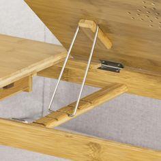 SoBuy® Table de lit pr PC portable,iPad,double plateaux,Bambou,pliant,FBT04-N FR | eBay