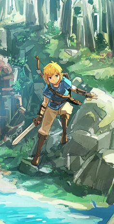 Game art 760756562042516222 - The Legend of Zelda (BotW) The Legend Of Zelda, Legend Of Zelda Breath, Breath Of The Wild, Fire Emblem Awakening, Skyward Sword, Twilight Princess, Music Poster, Zelda Drawing, Link Botw