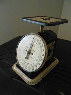 Primitive Rustic Country Decor Antique Landers Ferry & Clark kitchen Scale   eBay