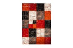 Hallmatta? Friezematta London 160X230 Cm Röd/orange - Chilli