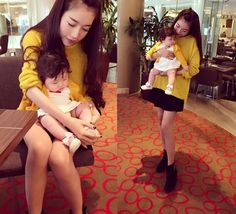 Love Fashion: Nổ mắt với gu thời trang sành điệu của mẹ con Ely Trần và bé Cadie