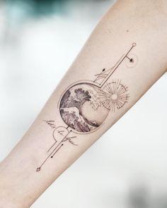 ✦ customer idea in my style ✦ - Coole Tattoos - Cute Tattoos For Women, Sleeve Tattoos For Women, Tattoo Sleeve Designs, Tattoos For Guys, Line Tattoos, Body Art Tattoos, Small Tattoos, Inspiration Tattoos, Back Tattoo Women Spine
