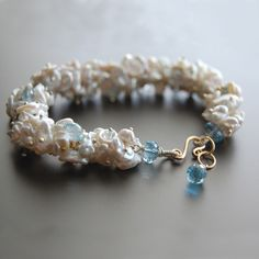 Keishi Pearl and Blue Topaz Bracelet – Amy Holton Designs