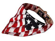 Dog Collar Bandana - Patriotic Red, White & Blue Flag Dog Bandana ~ http://puprwear.com/