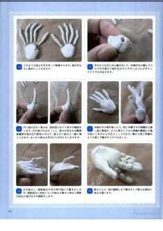 BJD making, image from a book in Japanese by Ryo Yoshida.