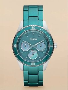 I'm loving this color right now!  Fossil Teal Watch
