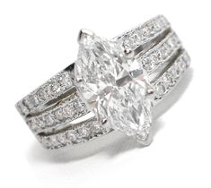 Gallery For > Marquise Cut Diamond Wedding Rings
