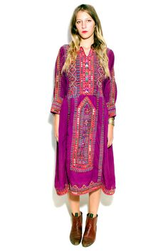 Vintage Purple Afghani Dress available at Tavin Boutique and online.