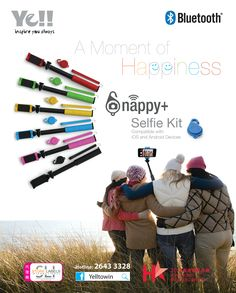 @ Hong Kong - Snap a Moment of Happiness with Ye! Snappy+ Selfie Kit Phone Show Dec 2014 Display Advertising, Shutter, Hong Kong, Happiness, In This Moment, Selfie, Kit, Baseball Cards, Phone