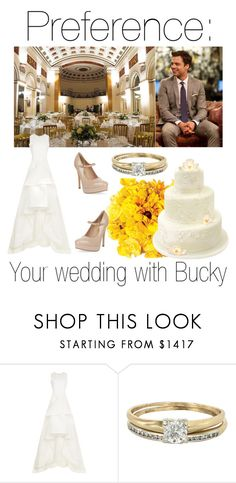 """""""Preference: Your wedding with Bucky"""" by fangirlingciera ❤ liked on Polyvore featuring Maticevski, Sebastian Professional, Vintage, New Look, wedding, marvel and buckybarnes"""