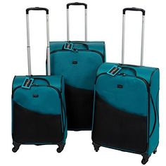 Sttelli Scorpius 3Piece Luggage Spinners Set  Blue Lagoon *** This is an Amazon Affiliate link. Check this awesome product by going to the link at the image.