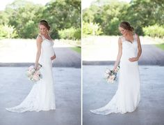 beautiful pregnant bride - such a gorgeous gown | Kelly Hornberger Photography
