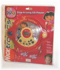 Dora The Explorer Sing-A-Long CD Player with Headset Microphone DTE516 by Emerson Radio Corp.. $59.99