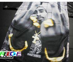 tupac living in China Biggie 2Pac Tupac Shakur tee tshirt Makaveli rock hip hop t shirts tops male The Notorious B.I.G. Teen