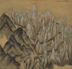 Geumgang naesanchongdo(or Overall view of Mt. Kumkang; 금강내산총도; 金剛內山摠圖, 1711) by Jeong Seon in his thirties.