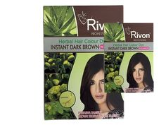 Rivon Herbal Hair Color Dye - 6 Boxes (2 Sachet X 28ML) (Dark Brown) ** Check out this great product.