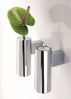 DECOR WALTHER | Tube CollectionTB VKH Chrome Plated Candle Holder