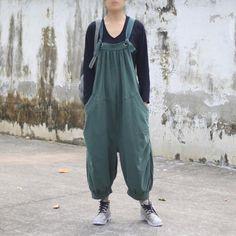 cf8e4a87946a Autumn Casual Loose Cotton Jumpsuits