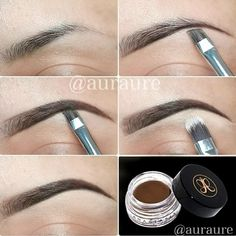 Another pinner said :This stuff is seriously amazing! Use it everyday and it stays on better than any other brow filler - dip brow by anastasia