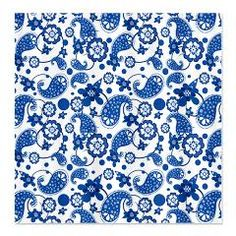 Dazzling Blue Paisley Pattern Shower Curtain> Holiday Hearts Trendy Home #showercurtains #paisleypattern #cuteshowercurtains #dazzlingblue #blueandwhite