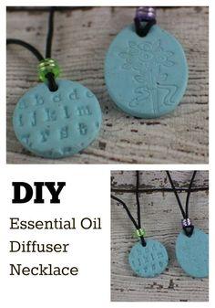 DIY Essential Oil Diffuser Necklace.