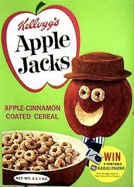 Vintage Apple Jacks cereal box