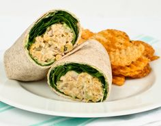 """mock"" tuna salad wrap:    Made with chickpeas, veganaise, dijon mustard, celery, cayenne pepper, salt and pepper."