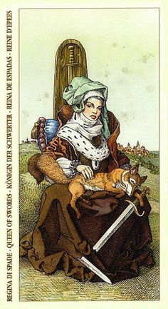 Queen of Swords - Durer Tarot