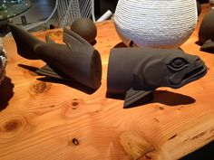 Long ceramic fish from @Artefact Design & Salvage for display case