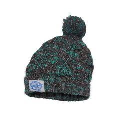 Colour Splash Beanie featuring polyvore, fashion, accessories, hats, beanie, charcoal teal twist, logo beanie hats, cable beanie, cable knit beanie, logo beanie and beanie hats