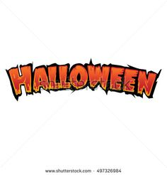 Happy Halloween Text Banner, Vector design template elements for your poster, invitation and greeting card Halloween party.