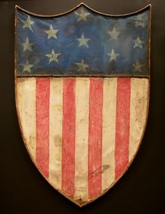 hand made patriotic shield