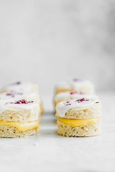 Coconut Lemon Curd Petit Fours