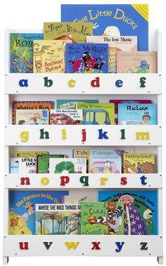 Tidy Books Children's Lowercase Bookcase - White - Best Price