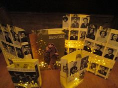 20 Yearbook Luminaries Reunion Decor Custom Made by Oldendesigns  use fake candles