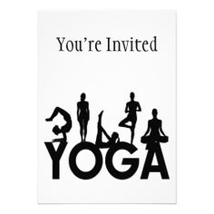 Shop Yoga Women Silhouettes Invitation created by goldnsun. Silhouette Png, Woman Silhouette, Personalized Invitations, Custom Invitations, Youre Invited, Envelope Liners, Yoga Poses, Silhouettes, Smudging