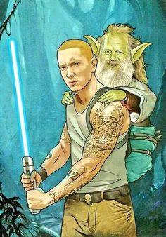 Eminem as Luke Skywalker & Rick Rubin as Yoda, Bill McConkey, 2014 Eminem Memes, Eminem Rap, Eminem Quotes, Bruce Lee, Bob Marley, Shady Records, Rapper, Eminem Slim Shady, Harry Potter