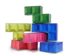 Tetris Paper Toy