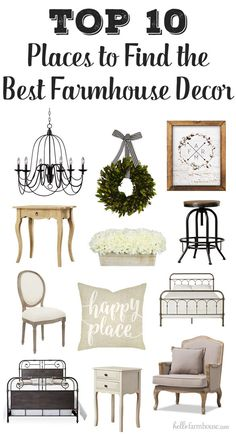 Looking for the best farmhouse decor? Here are the top 10 favorite places to the find amazing deals on the best farmhouse decor (plus a few bonuses!).